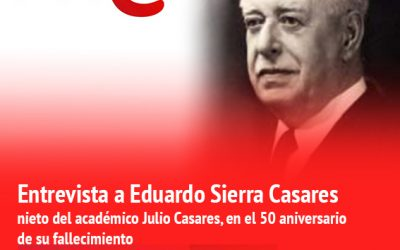 """Entrevista 50 aniversario sobre Julio Casares / Radio Nacional """"EL OJO CRÍTICO"""""""