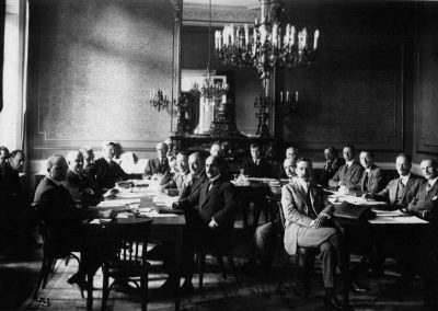 Comisión internacional de cooperación intelectual de la Sociedad de las Naciones, en Ginebra. 1924