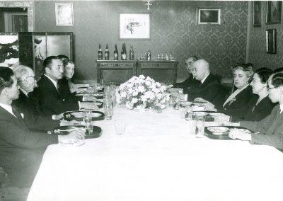 Comida de homenaje en la embajada de Japón. Julio Casares