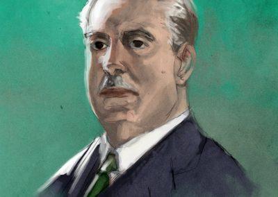 Julio Casares retratado por Juan Ramón Peralta Rincón
