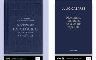 RBA Libros reimprime el Diccionario Ideológico de Julio Casares con un guiño a la Editorial Gustavo Gili