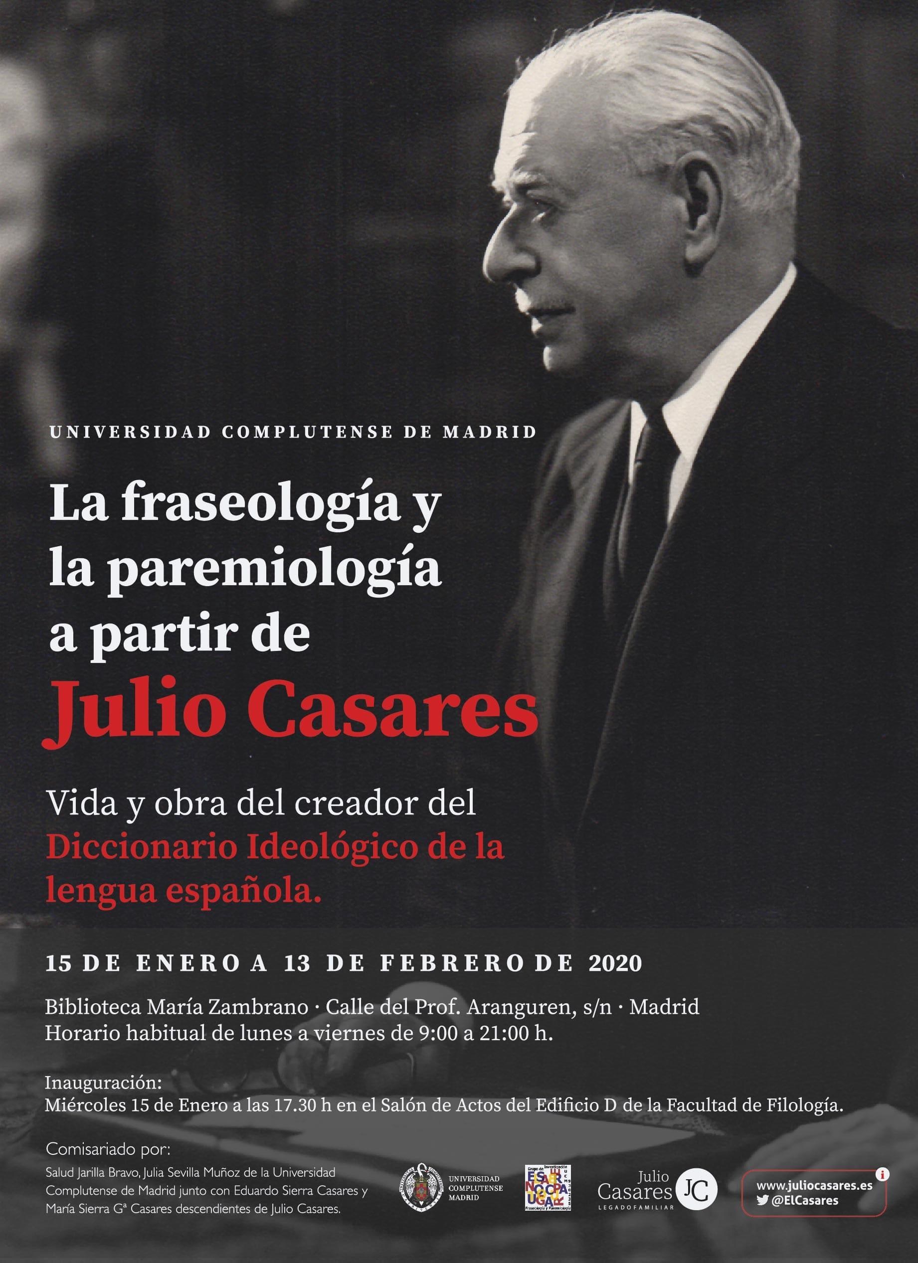 Exposición sobre Julio Casares